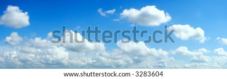 Beautiful summer clouds background - stock photo