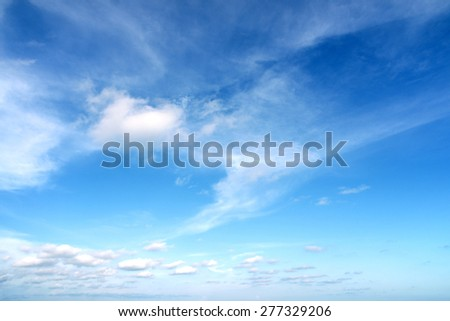 Beautiful Summer Clouds in the blue sky at Eastern Thailand.