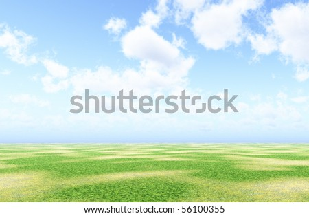 Beautiful summer landscape - stock photo