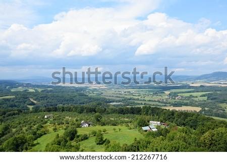 Beautiful summer mountain landscape in the Czech Republic - stock photo