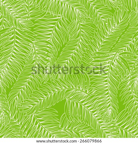 beautiful summer seamless green background with palm leaves