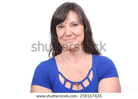 Beautiful summer woman - stock photo