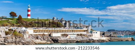 Beautiful summers day at The Hoe Plymouth Devon England UK Europe - stock photo