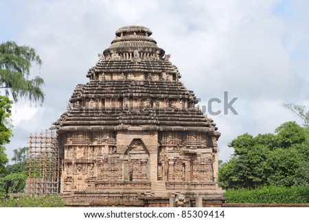 Beautiful sun temple of konarak, Orissa, India - stock photo
