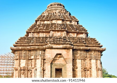 Beautiful sun temple of konark, Orissa, India - stock photo