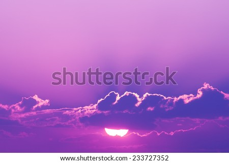 beautiful sunset - stock photo