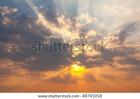 beautiful  sunset - background