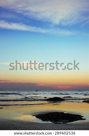 Beautiful Sunset in Phuket, Thailand. Photographed in February - stock photo