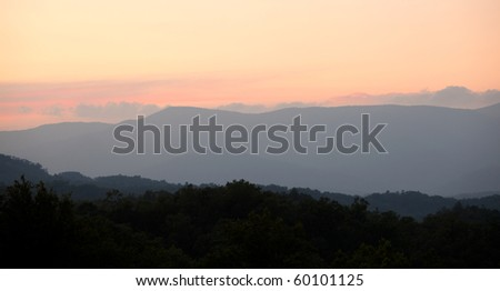 Beautiful Sunset in Smoky Mountains