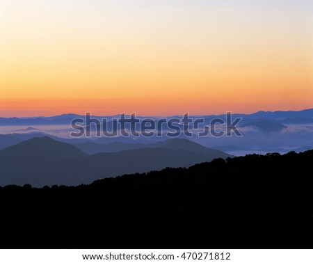Beautiful sunset landscape