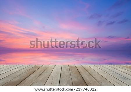 beautiful sunset sky - stock photo