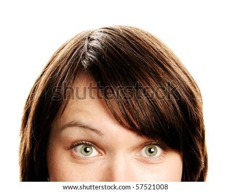 Beautiful surprised woman - stock photo