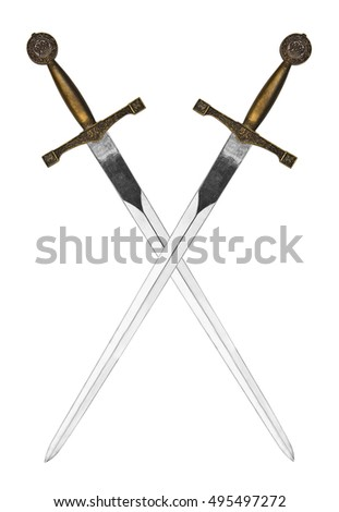 Beautiful swords isolated on a white background