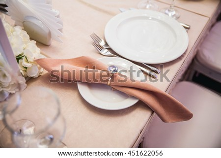 Beautiful table appointments - stock photo