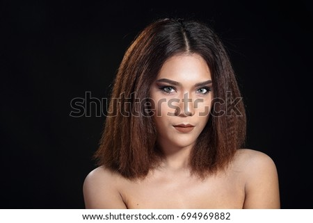 Beautiful Tan Skin Woman t brown zigzag hair with Smooth pose open shoulder smile studio  sc 1 st  Shutterstock & Beautiful Tan Skin Woman T Brown Stock Photo 694969882 - Shutterstock azcodes.com