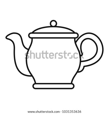 Beautiful teapot icon. Outline illustration of beautiful teapot  icon for web