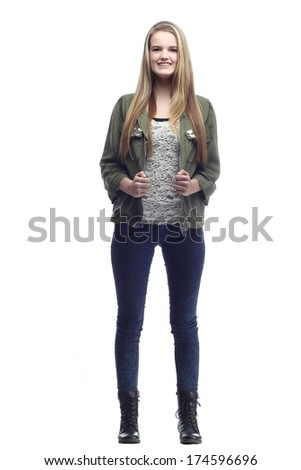 Beautiful Teenager full body - stock photo