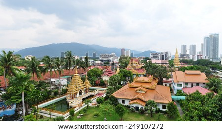 beautiful temple in Penang ,malaysia - stock photo