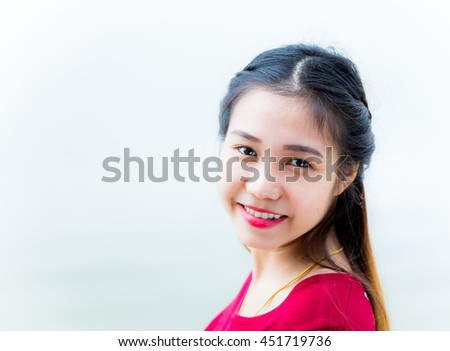 beautiful Thai  girl in chiangmai Thailand