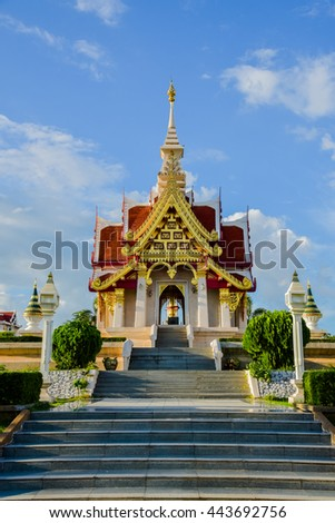 Beautiful Thai temple,Thailand buddhism temple