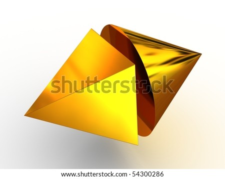 Beautiful three-dimensional cone. 3d