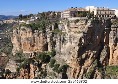 beautiful town Ronda,Aldalusia,Spain, - stock photo