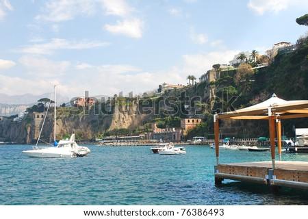 Beautiful town Sorrento, Italy - stock photo