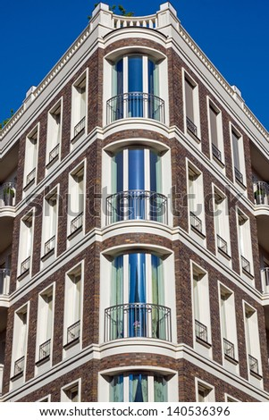 Beautiful townhouse in Berlin - stock photo