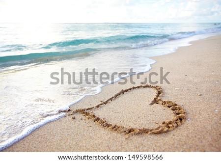 Beautiful tropical beach. Caribbean vacation resort. - stock photo