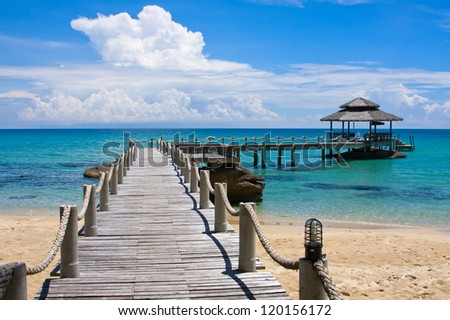 Beautiful tropical beach in Koh Kood , Thailand - stock photo