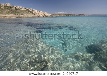 beautiful tropical beach in the Sardegna Island, Italy