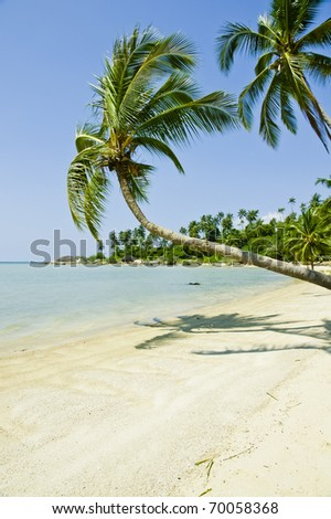Beautiful tropical beach, Ko Pha Ngan, Thailand.