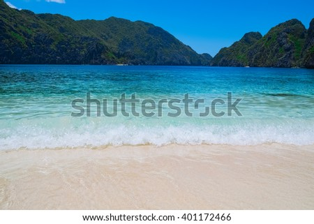 Beautiful tropical beach, Palawan, Philippines, Southeast Asia - stock photo