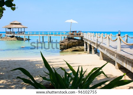 Beautiful tropical beach, Thailand - stock photo