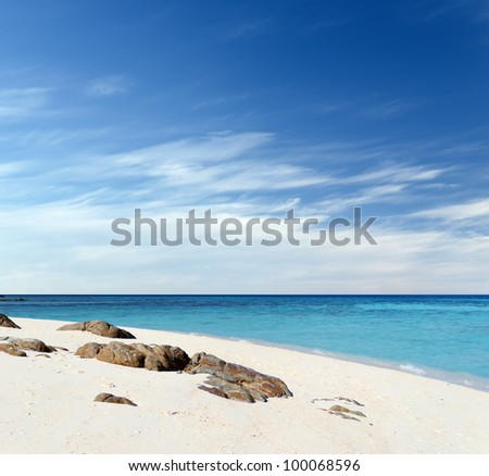 Beautiful tropical landscape. Lipe island, Thailand. - stock photo