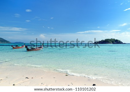 Beautiful tropical landscape. Lipe island, Thailand. - stock photo