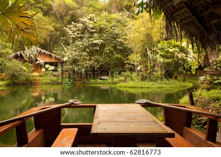beautiful tropical place perfect for a dream vacation. - stock photo