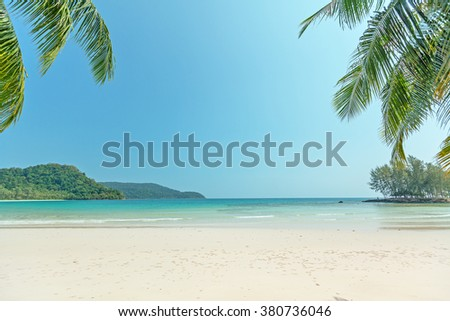 beautiful tropical scenery  - stock photo