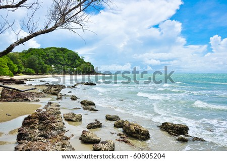 beautiful tropical sea in Rayong Thailand
