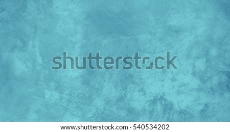 Beautiful Turquoise Grunge Stylized Background Banner. Abstract Rough Solid Decorative Stucco Wall Texture With Copy Space.