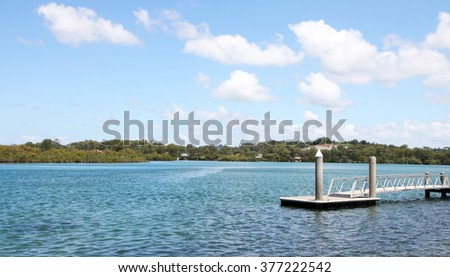 Beautiful Tweed Heads inlet, New South Wales, Australia - stock photo