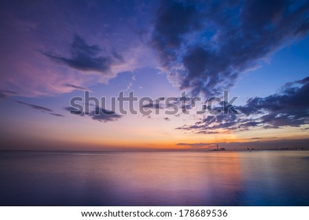 Beautiful twilight over the sea  - stock photo