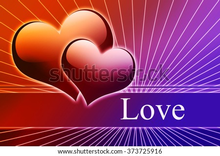 beautiful Valentine day and love background - stock photo