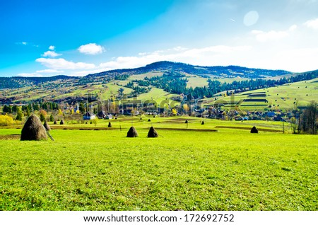 beautiful valley in a mountain - stock photo