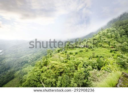 Beautiful valley view near kaluk - stock photo