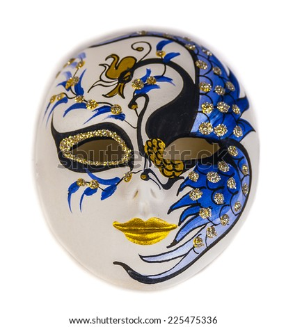 Beautiful venetian mask on white.