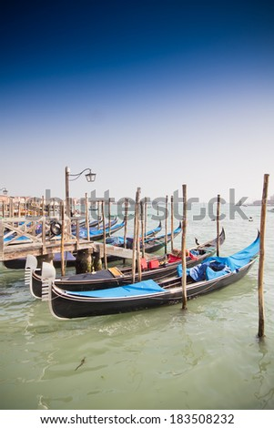 beautiful Venice, Italy with gondolas