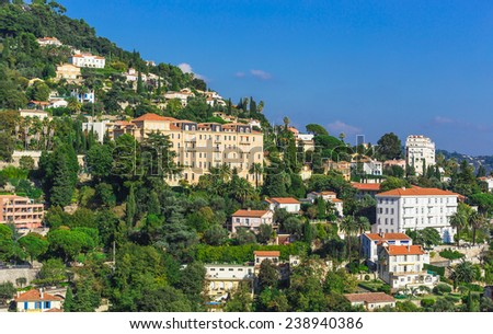 Beautiful view Alpine of Provence, France - stock photo