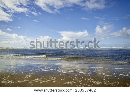 Beautiful view from Northern Oregon coastline - stock photo