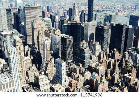 Beautiful view from the empire state building - stock photo